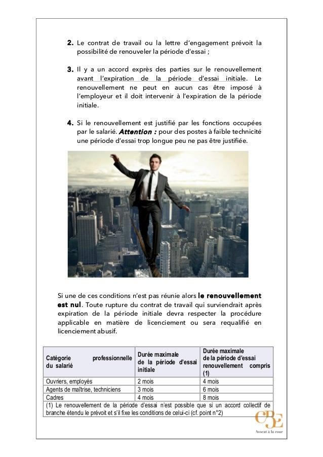 Dix Questions Sur La Periode D Essai