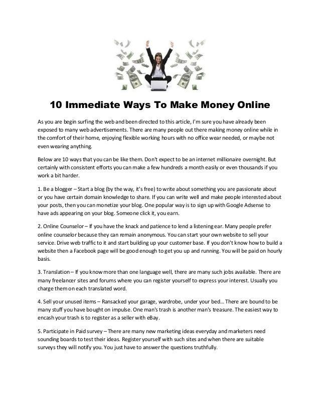 Money for surfing sites 10 Best