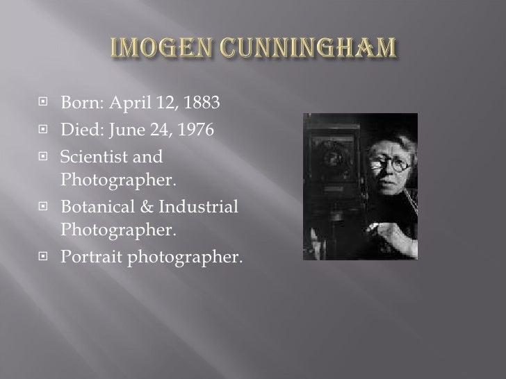 10 Imogen Cunningham