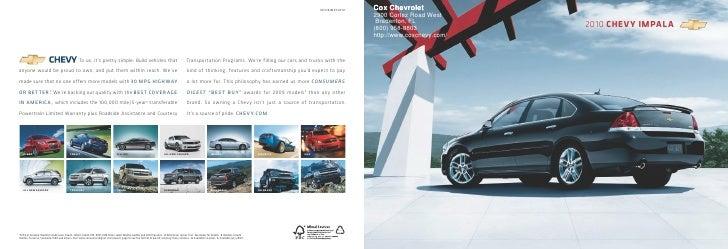 10CHEIMPCAT01 Cox Chevrolet .