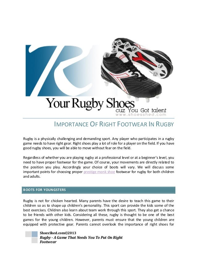 b48b89757aa3 IMPORTANCE OF RIGHT FOOTWEAR IN RUGBYRugby is a physically challenging and  demanding sport.