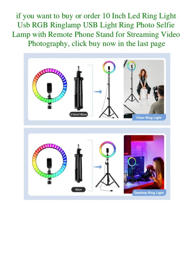 if you want to buy or order 10 Inch Led Ring Light Usb RGB Ringlamp USB Light Ring Photo Selfie Lamp with Remote Phone Sta...