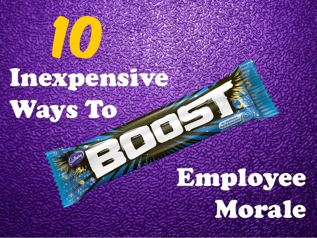 10 Inexpensive Ways To Employee Morale