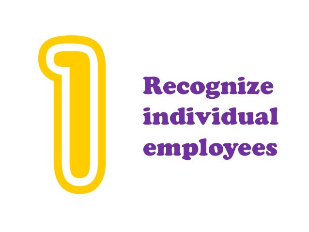 Recognize individual employees