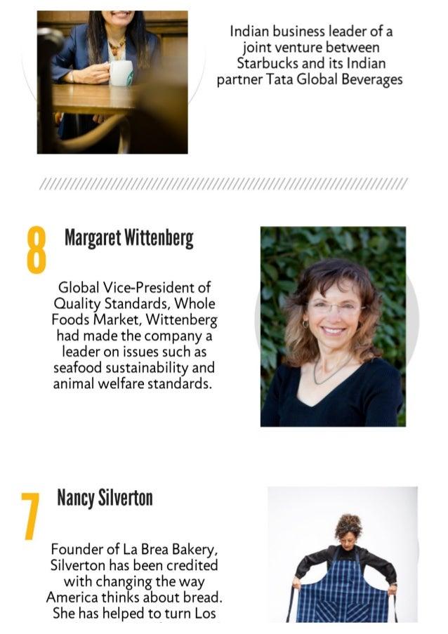 10 influential working in food  Slide 2