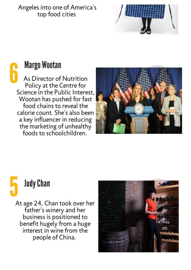 10 influential working in food  Slide 3