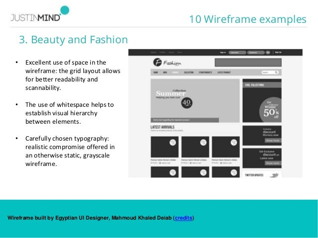 web wireframe examples