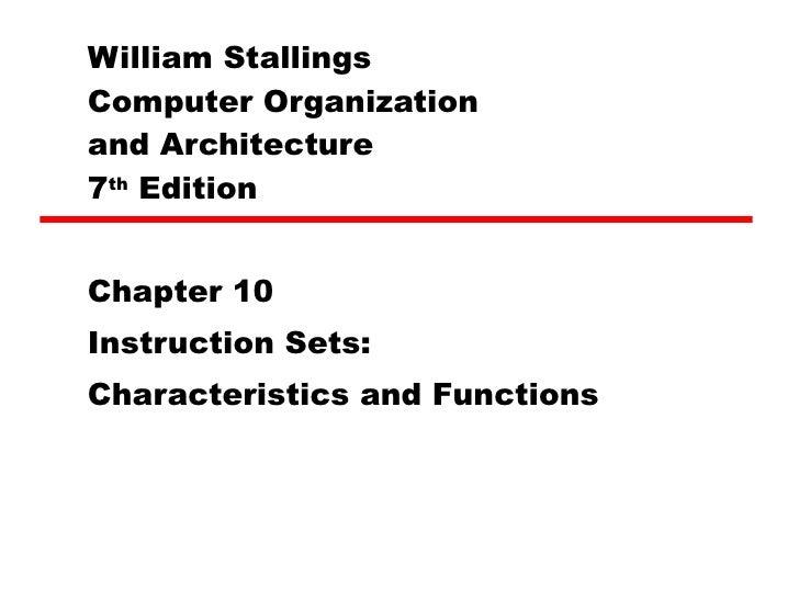 10 Instruction Sets Characteristics