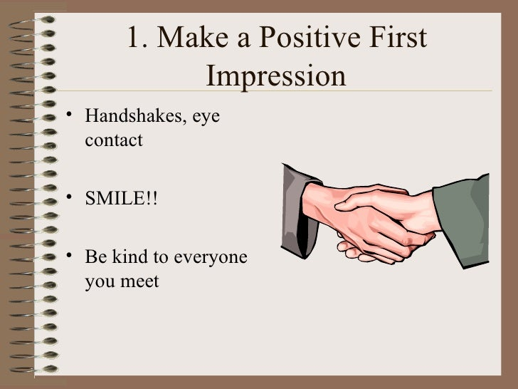 Good SlideShare Throughout First Interview Tips