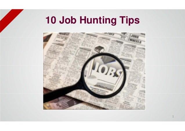 10 Job Hunting Tips 1