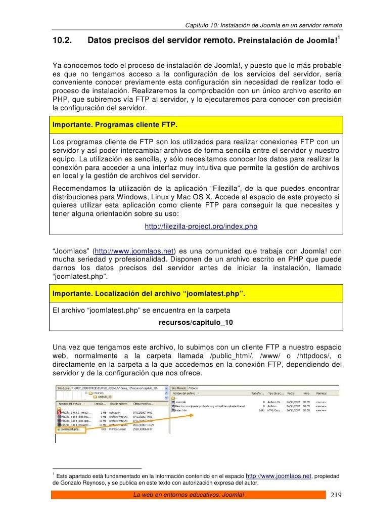 10 Joomla. Instalacion De Joomla En Un Servidor Remoto Slide 2