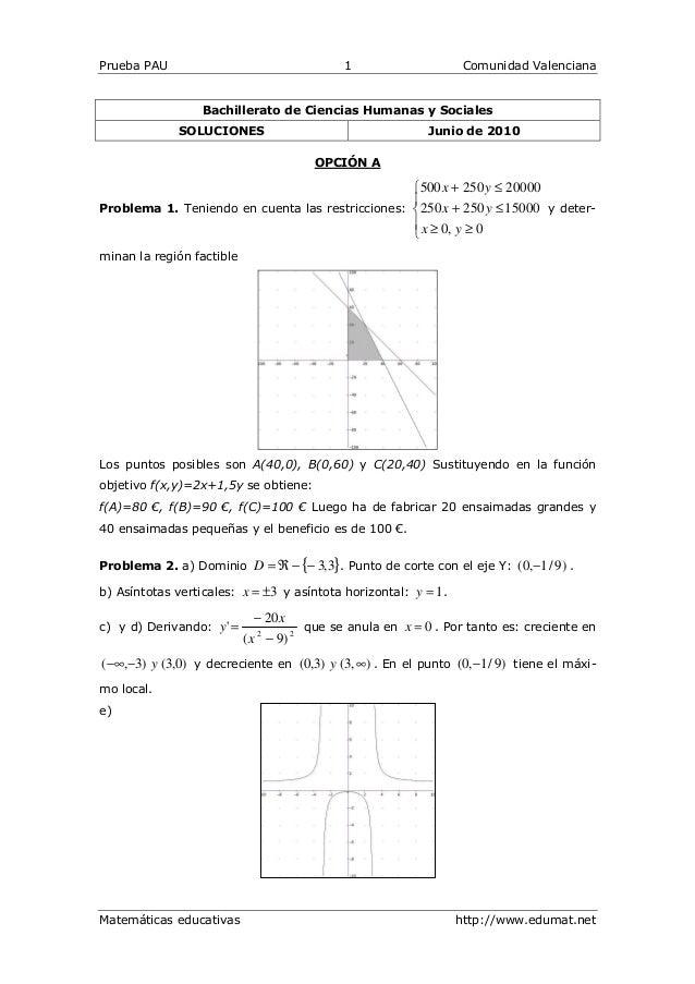 Prueba PAU                                    1                     Comunidad Valenciana                 Bachillerato de C...