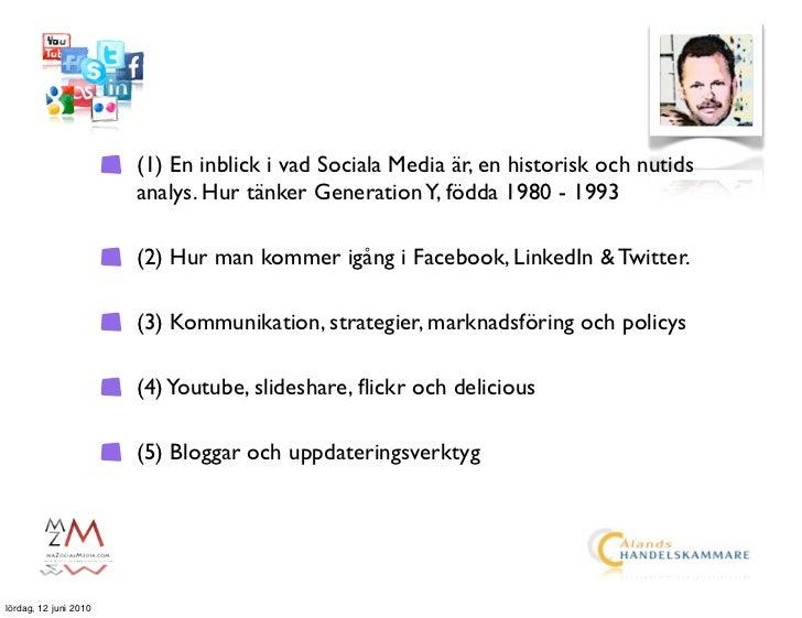 (1) En inblick i vad Sociala Media är, en historisk och nutids                        analys. Hur tänker Generation Y, föd...