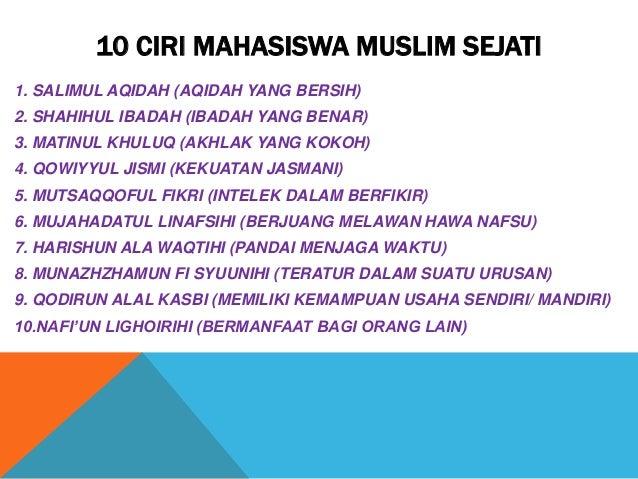 10 karakter muslim sejati - amin yusuf @aminyusuf Slide 2