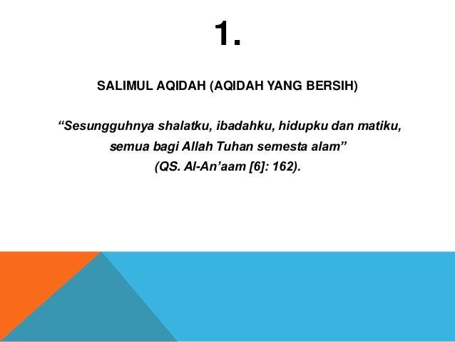 10 karakter muslim sejati - amin yusuf @aminyusuf Slide 3