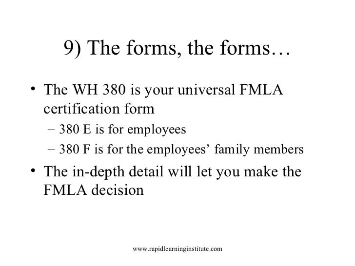 Key Facts About Fmla Regulations