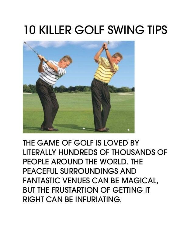 10 Killer Golf Swing Tips