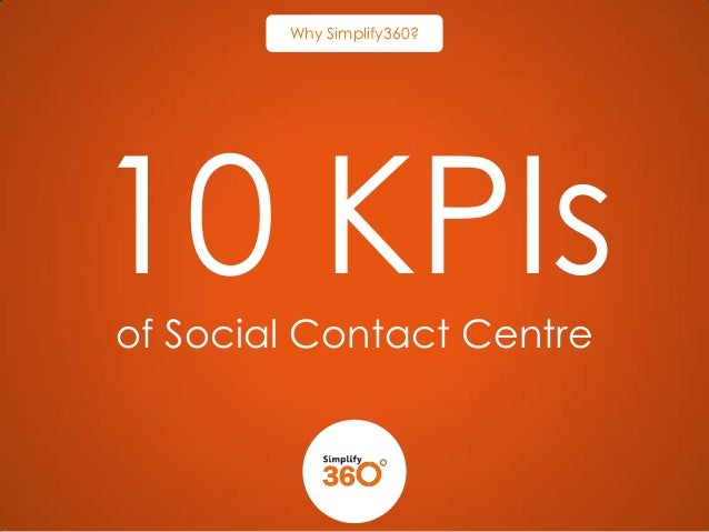 Why Simplify360?  10 KPIs of Social Contact Centre
