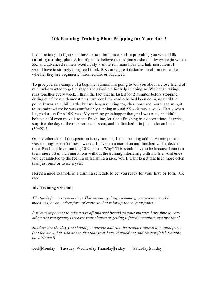 10k Running Training Plan