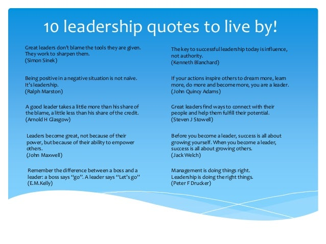 Great Leadership Quotes Classy 48 Leadership Quotes To Live By