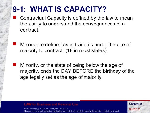 Who Lacks the Capacity to Contract?