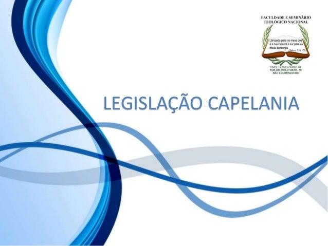 LEGISLAÇÃO CAPELANIA