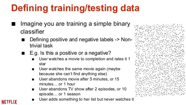 Other training data issues: Time traveling  ■ Time traveling: usage of features that originated after  the event you are t...
