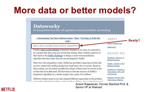 More data or better models?  Sometimes, it's not  about more data