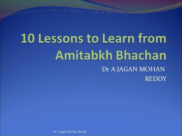 Dr A JAGAN MOHANREDDYDr A Jagan Mohan Reddy