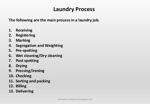Housekeeping Dept 10 Linen And Laundy Knowledge