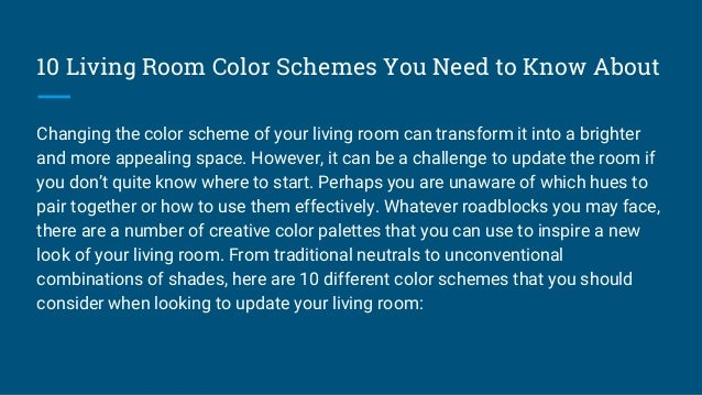 10 living room color schemes you need to know about - What do you need in a living room ...