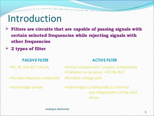 active filter  low pass