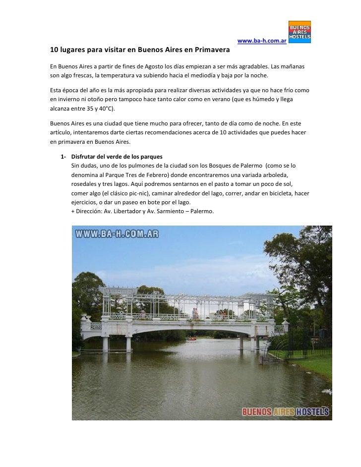 www.ba-h.com.ar10 lugares para visitar en Buenos Aires en PrimaveraEn Buenos Aires a partir de fines de Agosto los días em...