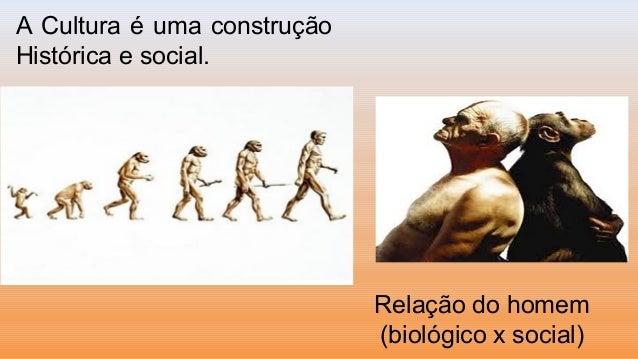 A Cultura é uma construçãoHistórica e social.Relação do homem(biológico x social)