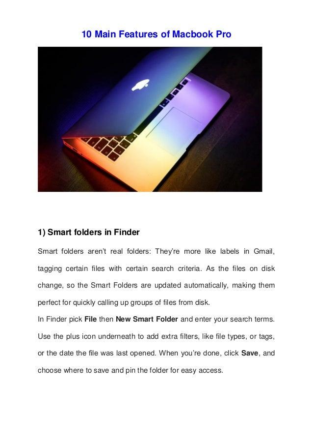10 main features of macbook pro