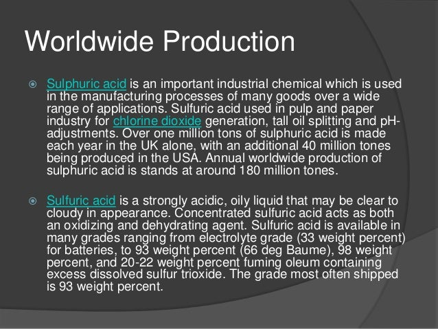 the industrial process of sulphuric acid A study of hydrochloric acid synthesis process in a chlor-alkaly industry  issn: 2319-5967  from the second cooling stage is dried by means of sulphuric acid the .