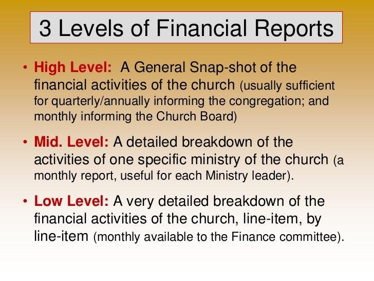 church financial report