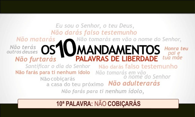 10ª PALAVRA: NÃO COBIÇARÁS