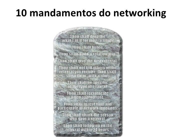 10 mandamentos do networking