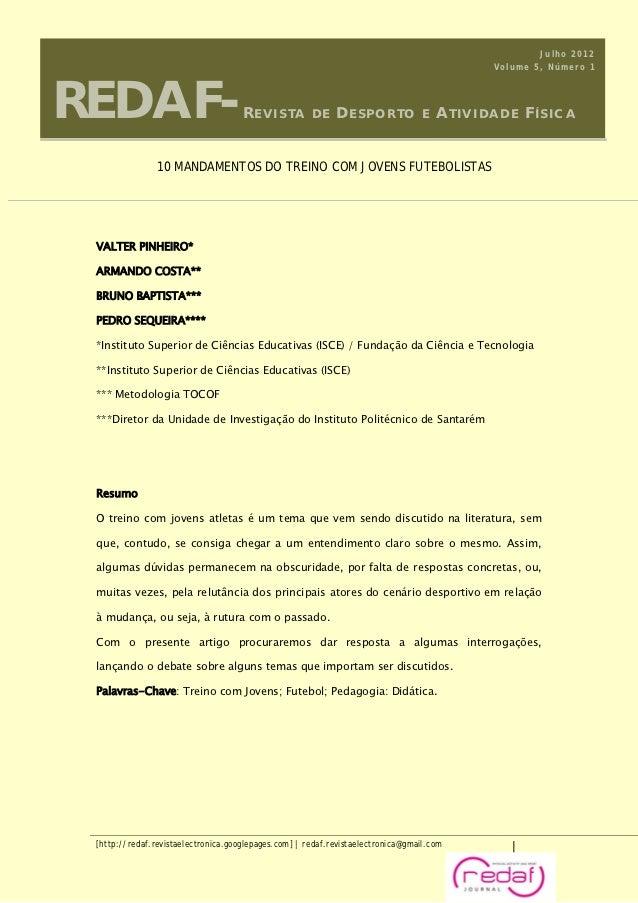 Julho 2012REDAF-                                                                                           Volume 5, Númer...