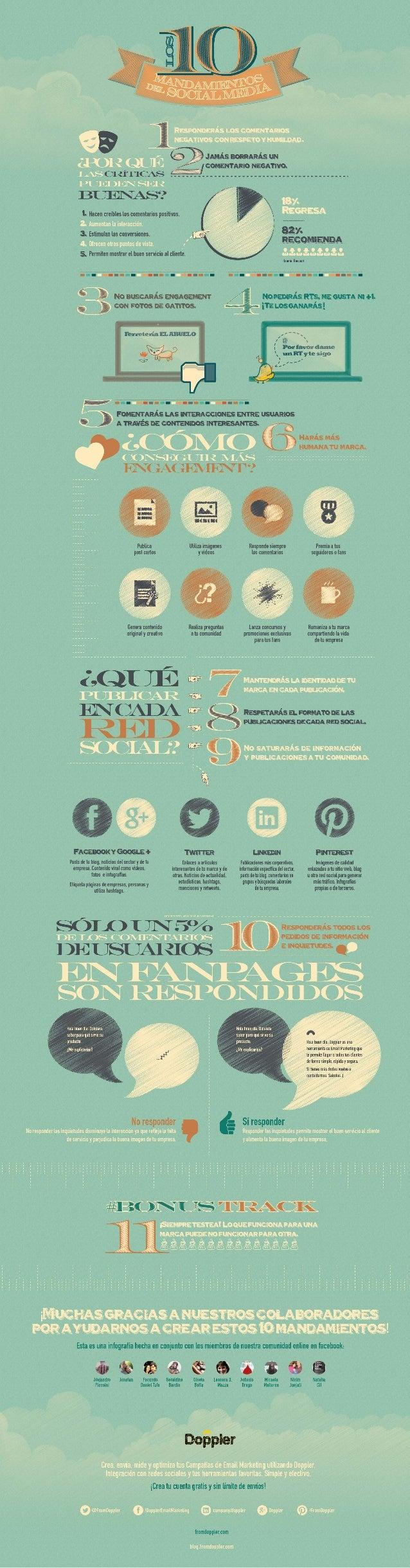 ¿Sabes cuáles son los 10 Mandamientos del Social Media?
