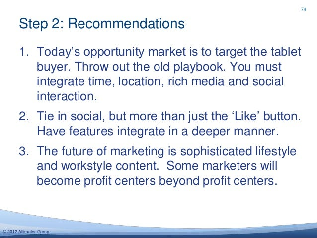 Outlook 2013 marketing advertising social media trends 2012 altimeter group 74 fandeluxe