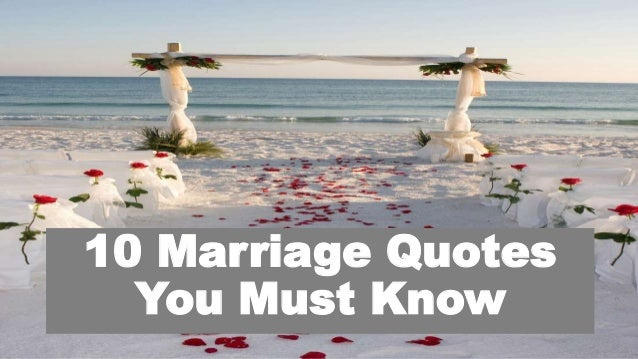 10 Marriage Quotes You Must Know
