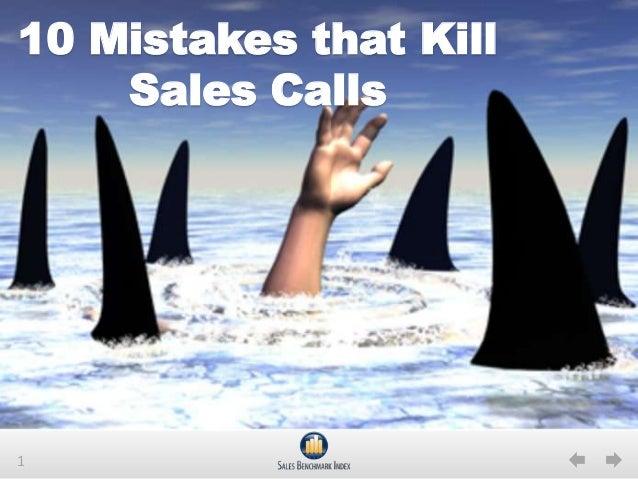 110 Mistakes that KillSales Calls