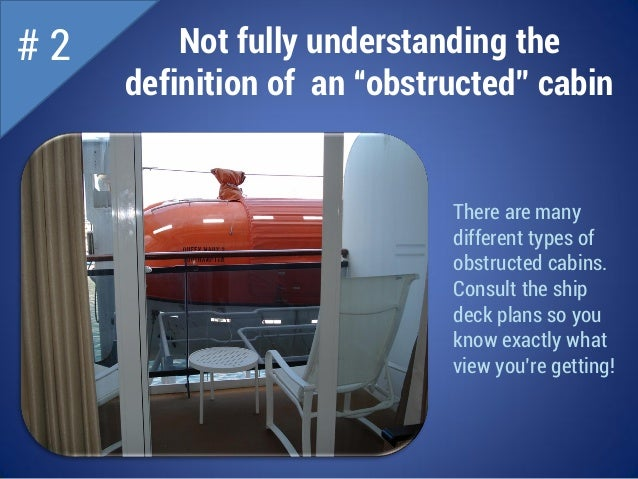 Mistakes To Avoid When Booking A Cruise - What is obstructed view on a cruise ship