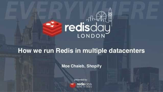 How we run Redis in multiple datacenters Moe Chaieb, Shopify