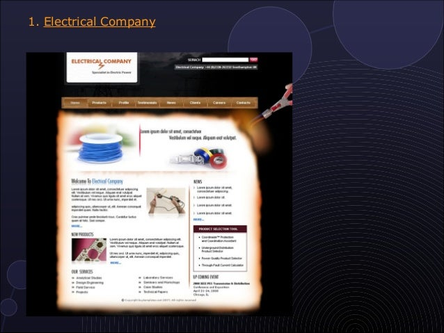 10 most popular electrical website templates electrical company pronofoot35fo Choice Image