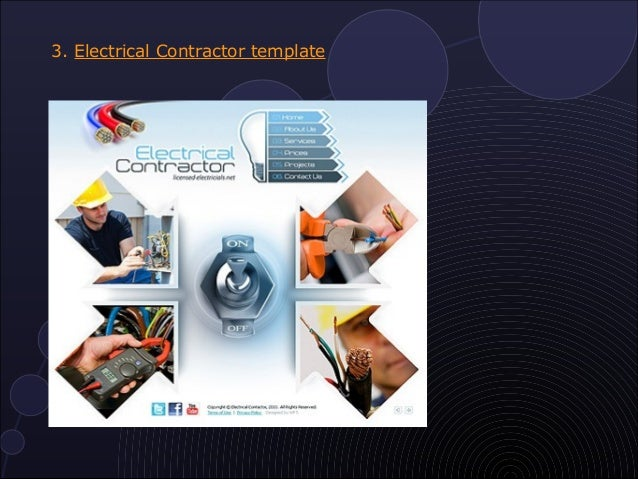 10 most popular electrical website templates electrical contractor template pronofoot35fo Image collections