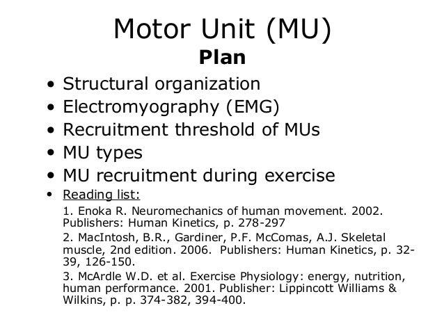 10 motor unit sr2002 2013 al, Muscles