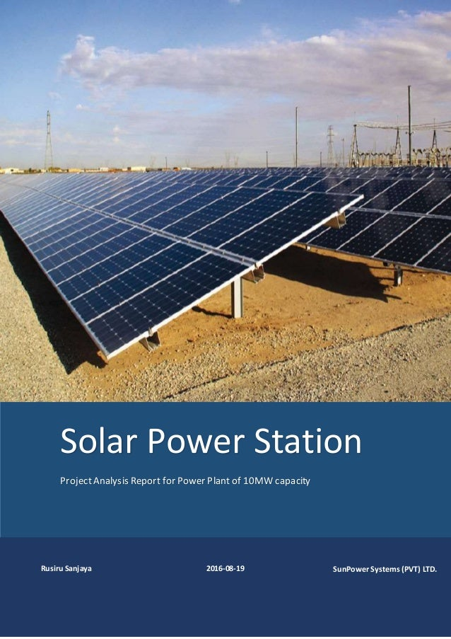10 Mw Solar Power Plant
